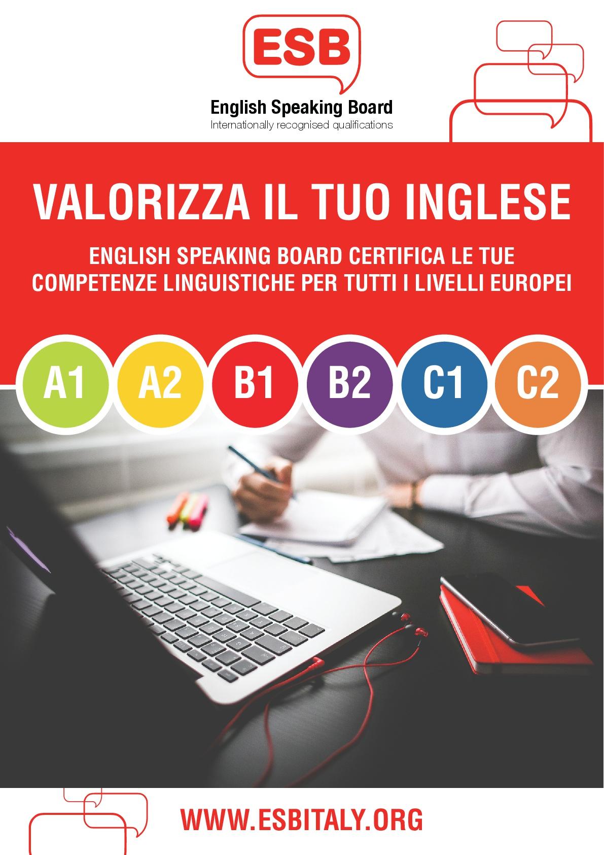 ESB- Certificazioni in Lingua Inglese